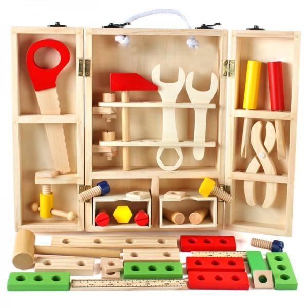 Деревянный набор инструментов для детей